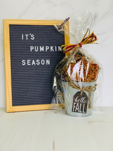 Picture of Hello Fall Tin Pail